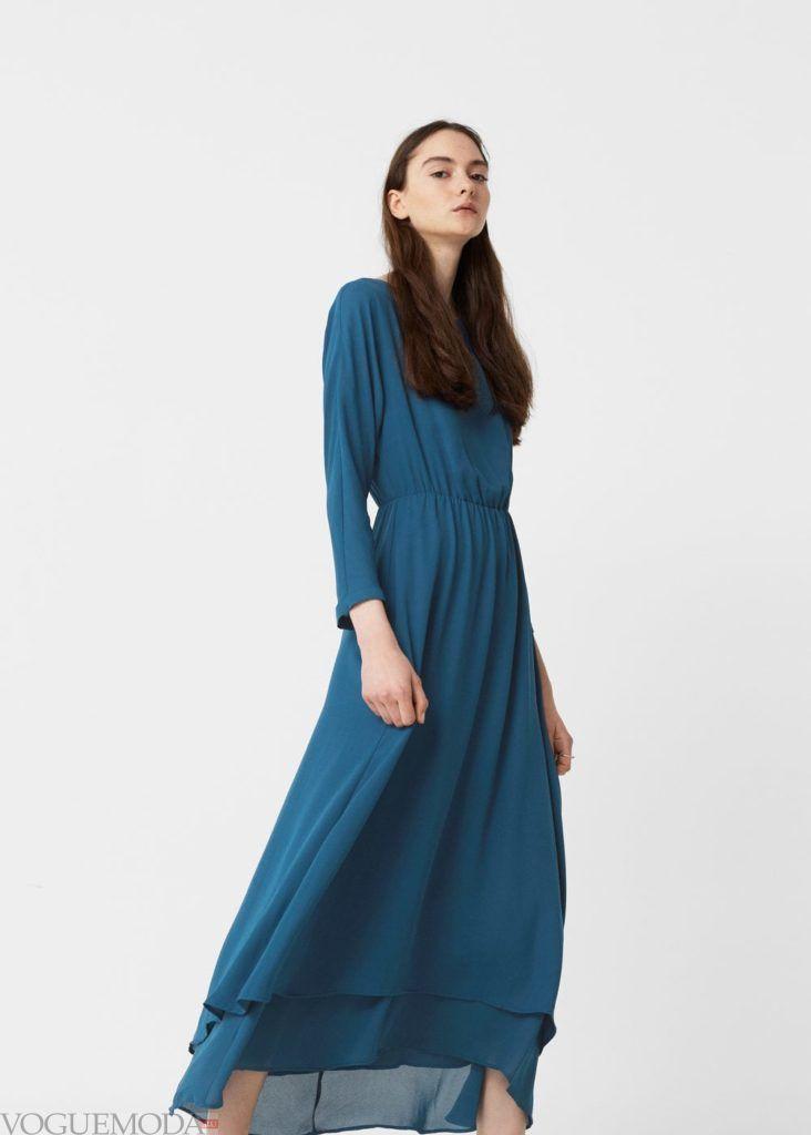 платье 2019 2020 с длинным рукавом