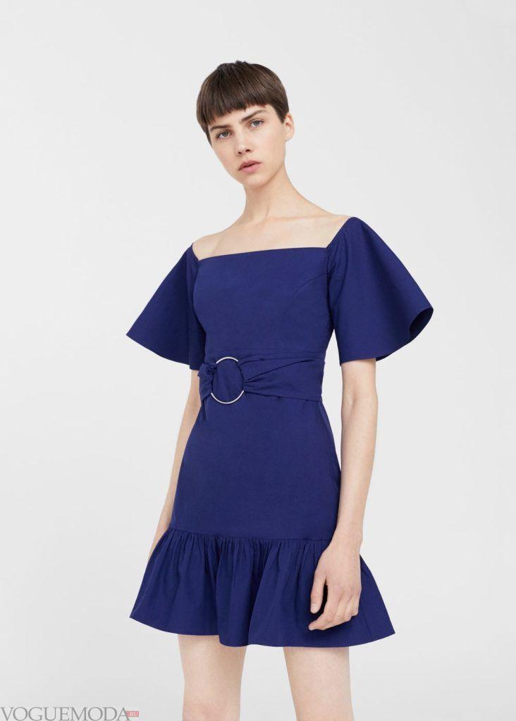 платье с поясом 2021
