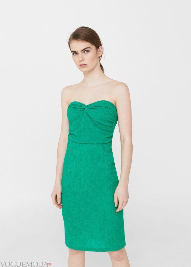 платье зелёное 2020