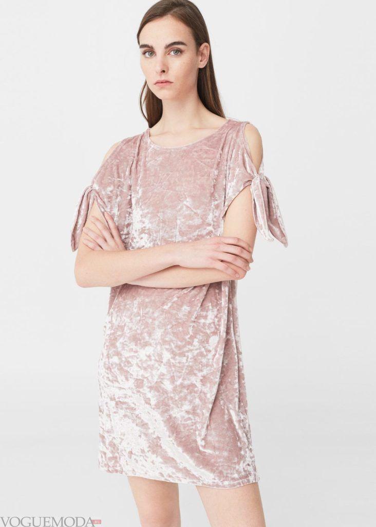 платье бархат 2020 года