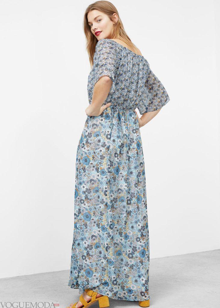 платье в цветочки мода 2019 2020