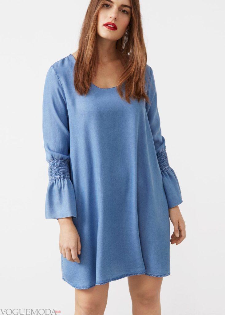 джинсовое платье мода 2019 2020