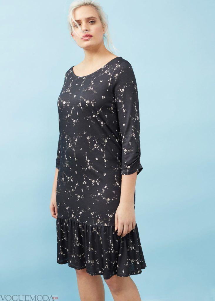 платье черное кружевное мода 2019 2020