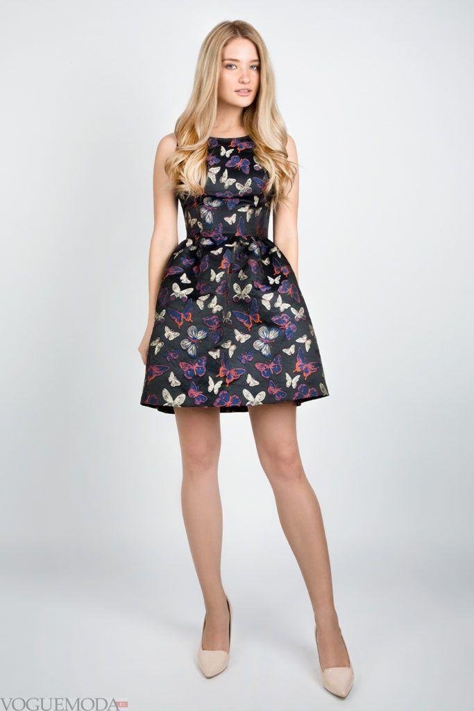 платье 2019 2020 с бабочками модное