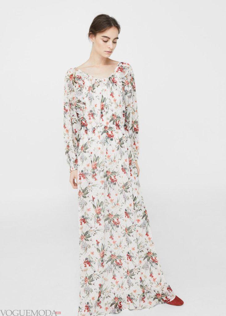 платье в цветы 2019 2020 года
