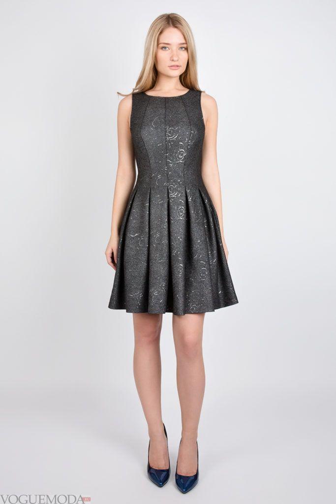 платье 2019 2020 тёмное модное