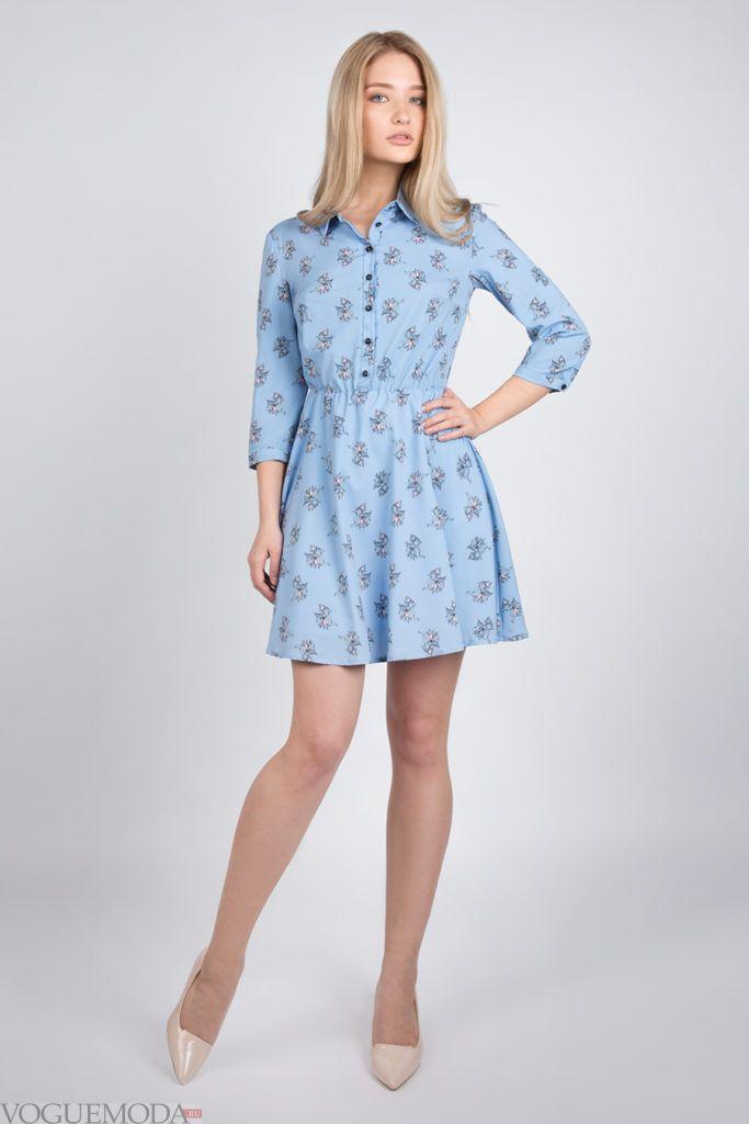 платье 2019 2020 с принтом модное
