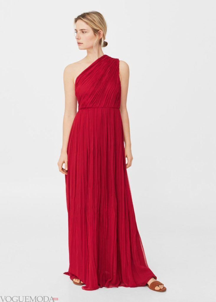 платье красное 2019 2020 года