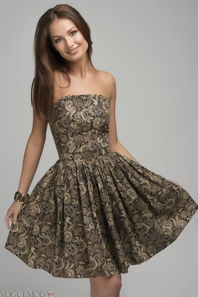 модное платье цветочное 2020 2021