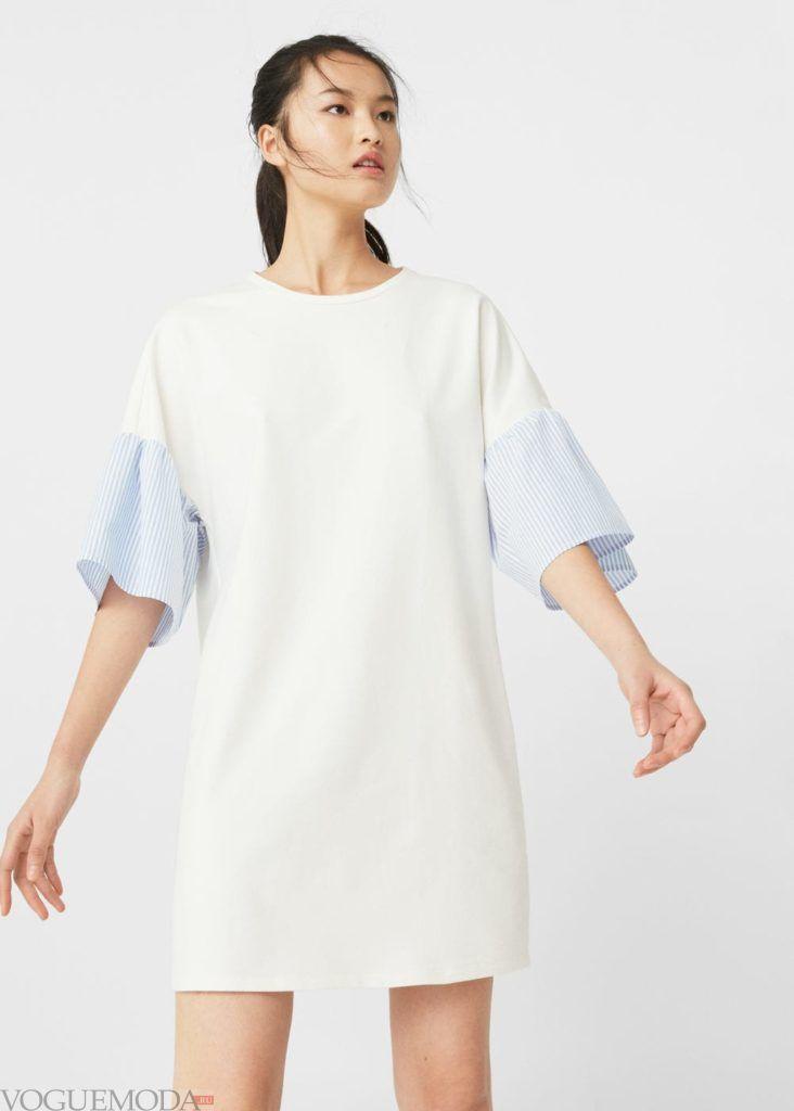 каждодневное платье 2018 белое