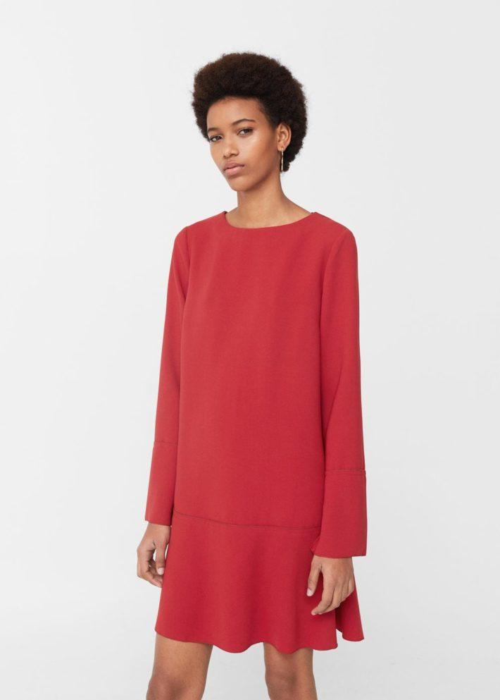 Платья на каждый день 2019 2020: красное