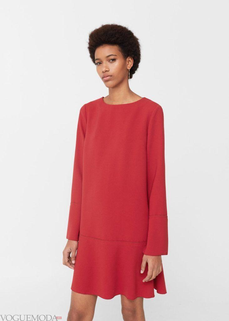 каждодневное красное платье 2018