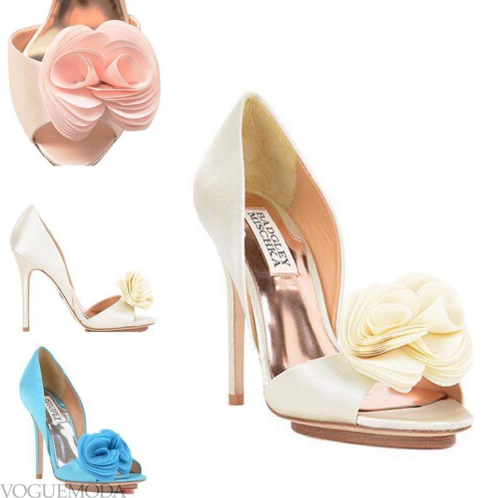 свадебные туфли разноцветные
