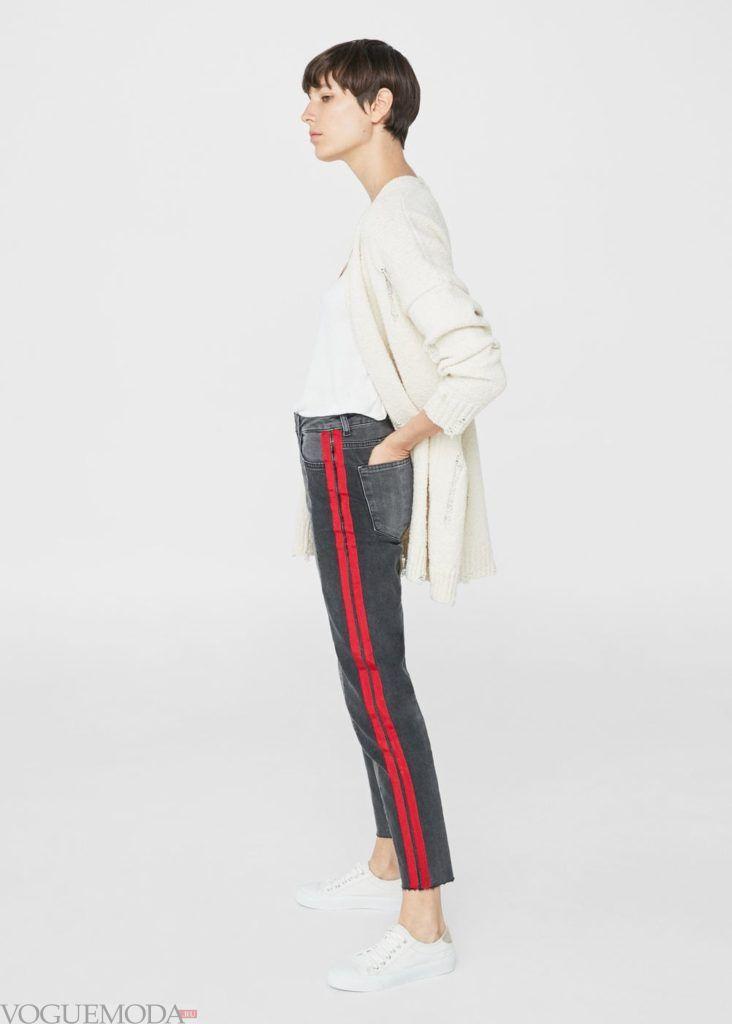 базовый гардероб джинсы с полосками