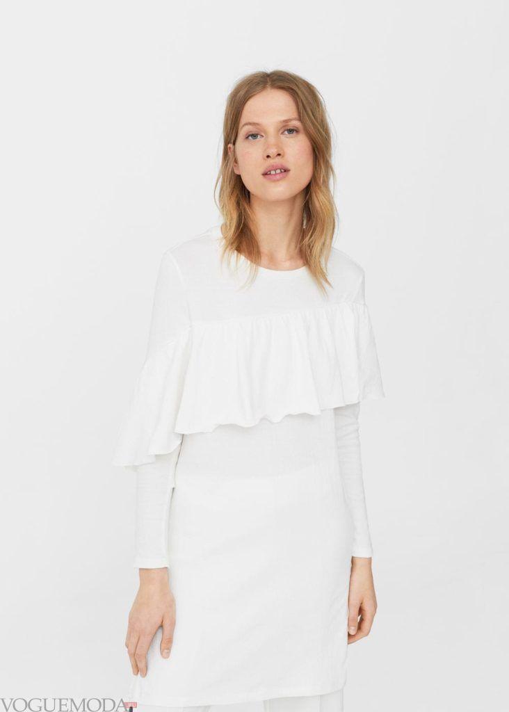 базовые вещи для женского гардероба: туника белая