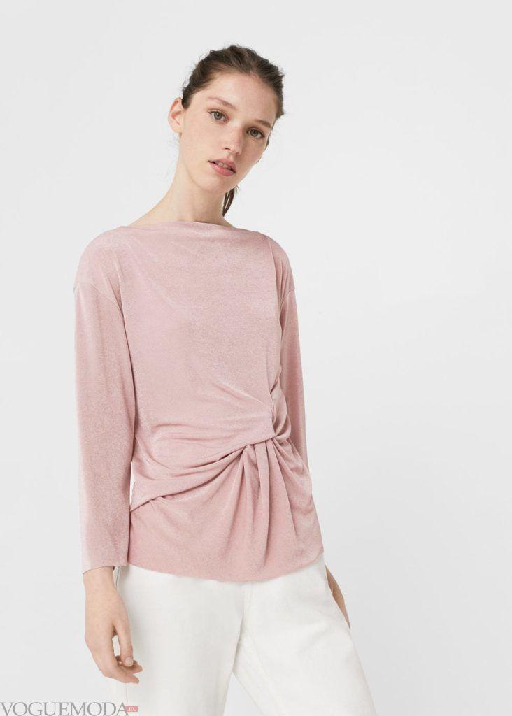 базовый гардероб туника розовая