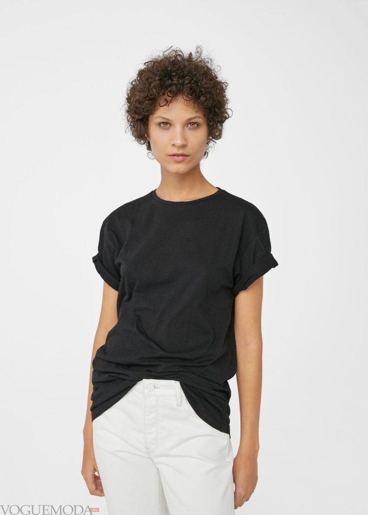 базовый гардероб туника чёрная