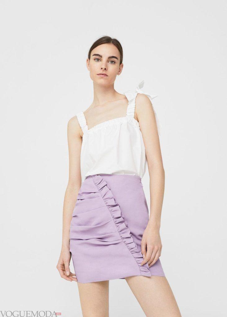 базовый гардероб юбка фиолетовая