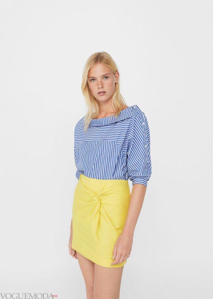 базовый гардероб юбка жёлтая