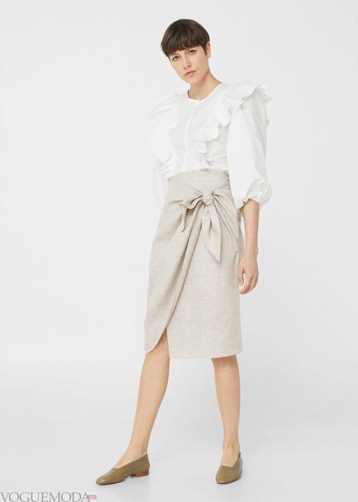 базовый гардероб юбка беж