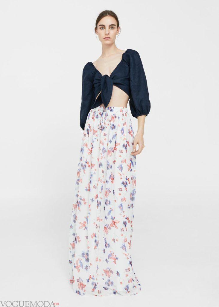базовый гардероб юбка с принтом