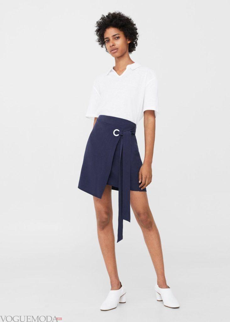 базовый гардероб юбка синяя