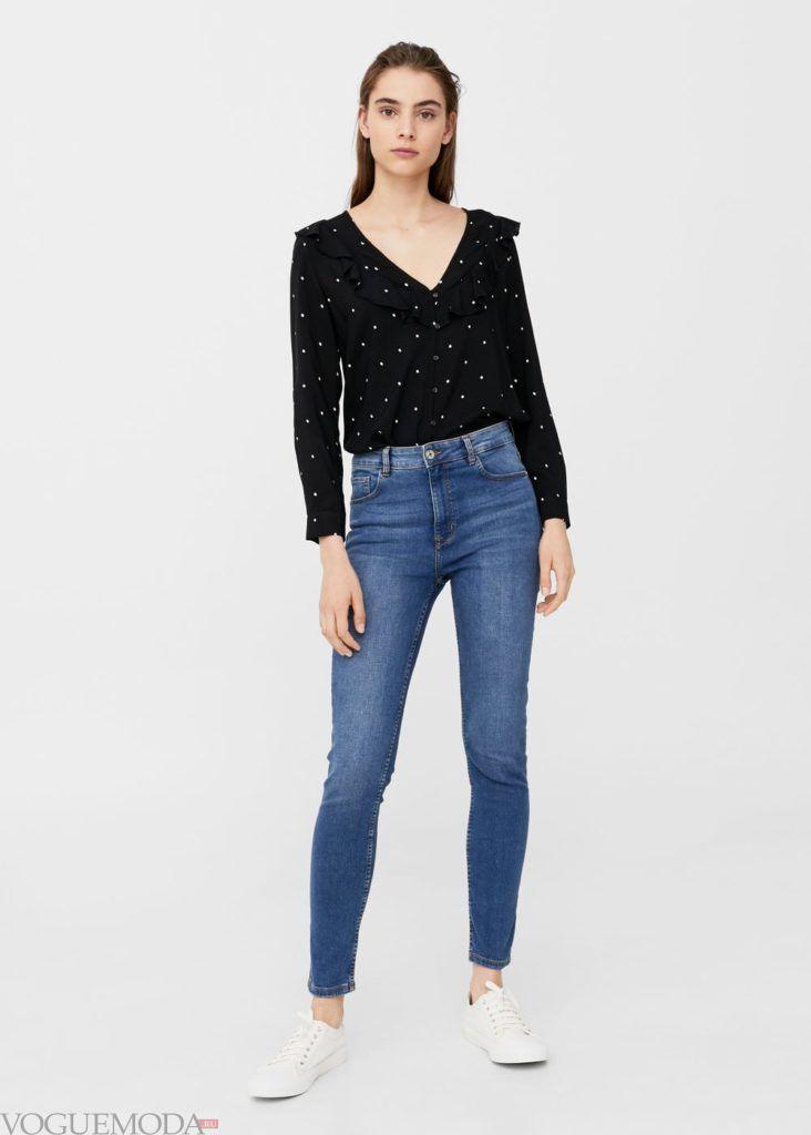 базовый гардероб синие джинсы