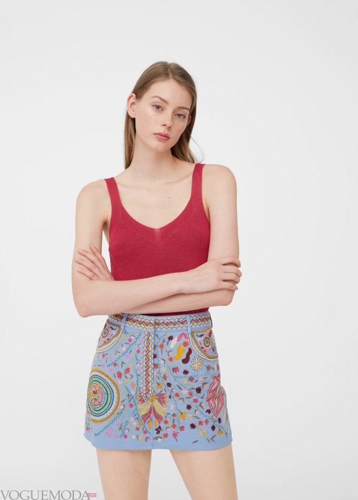 базовый гардероб юбка разноцветная