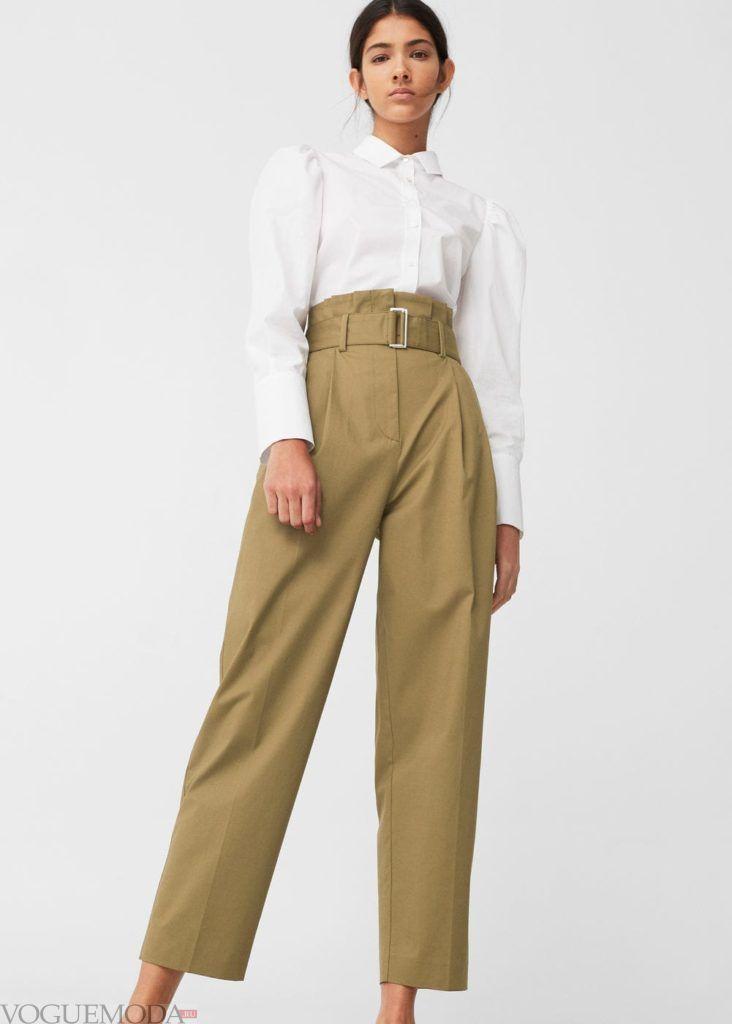 базовый гардероб брюки оливковые