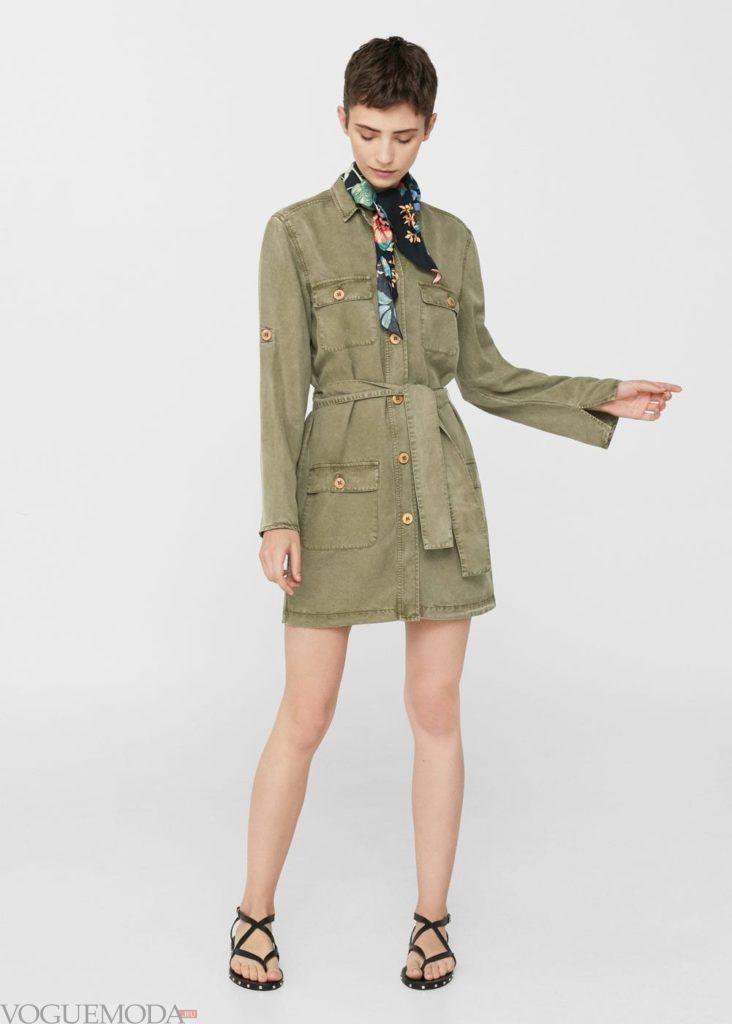 базовый гардероб платье оливковое