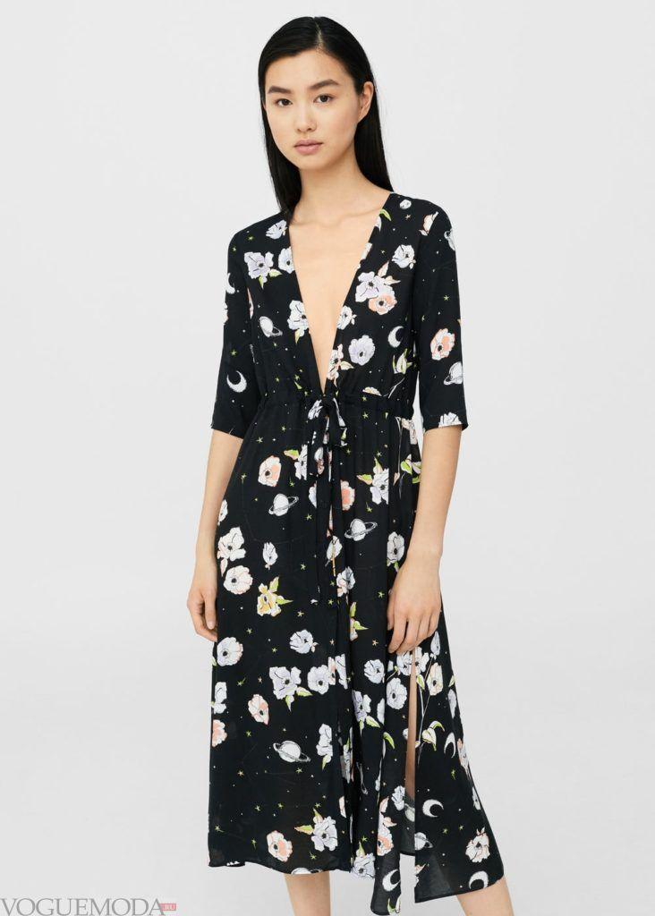 базовый гардероб платье с принтом
