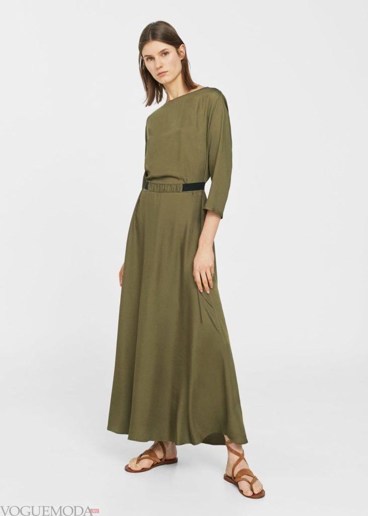 базовый гардероб платье длинное