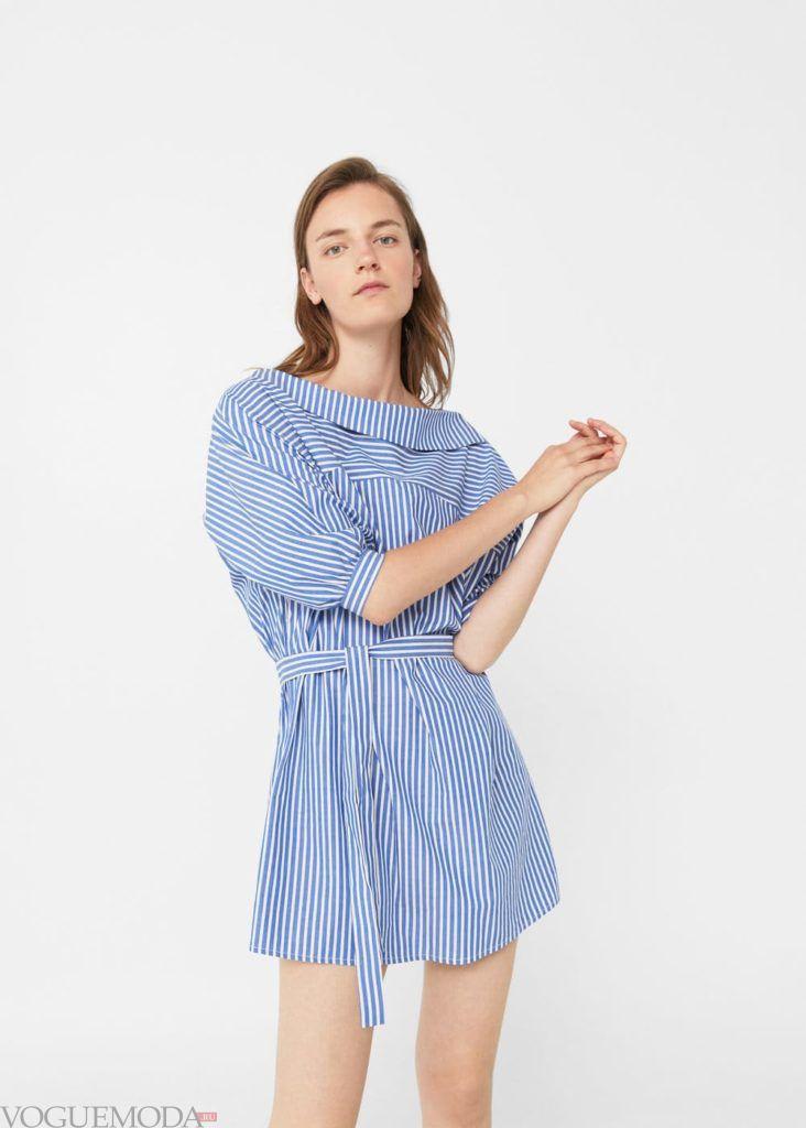 базовый гардероб платье синее