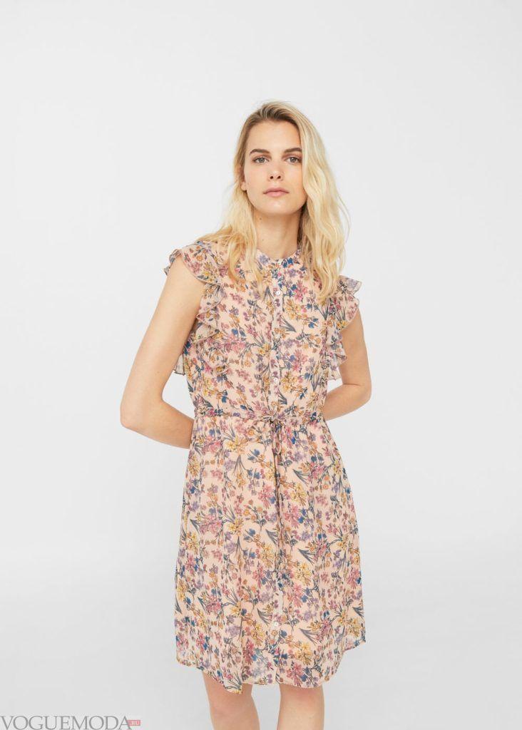 базовый гардероб платье в цветок