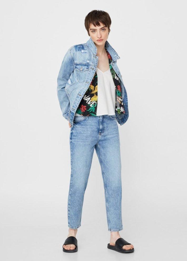 базовый гардероб джинсы голубые