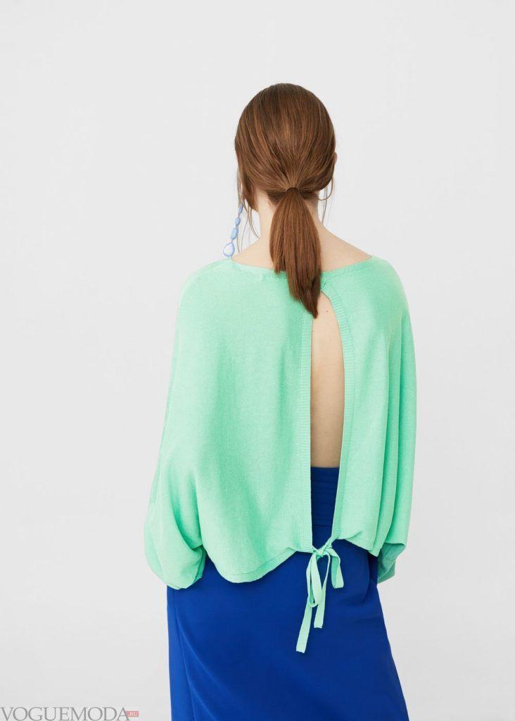 базовый гардероб свитер мятный
