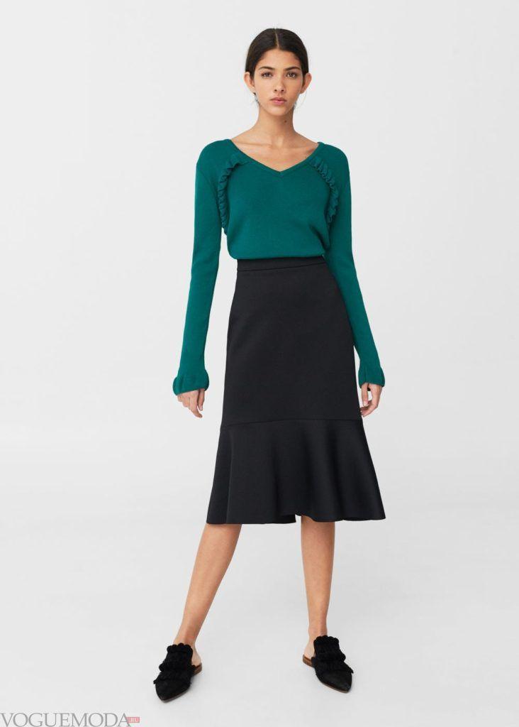 базовый гардероб свитер зелёный