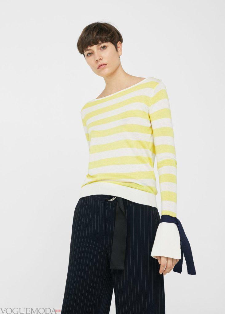 базовый гардероб свитер в полоску