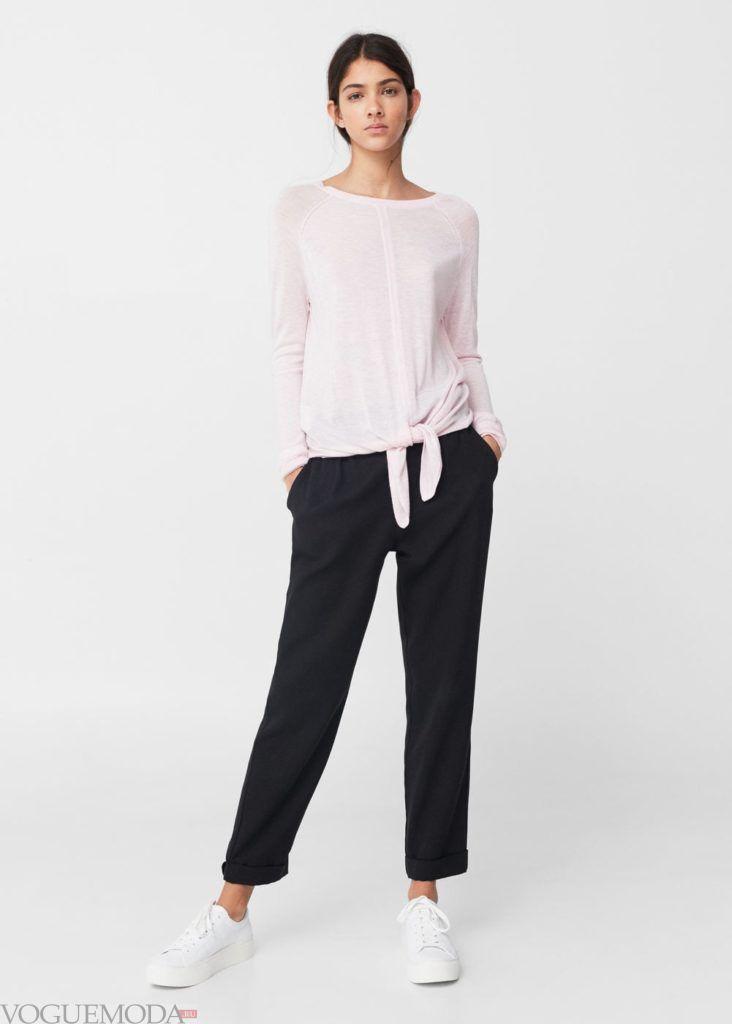 базовый гардероб свитер с завязкой