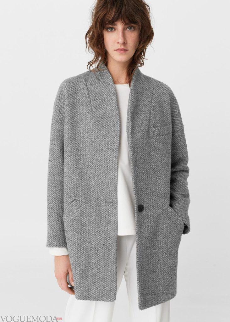 базовый гардероб для женщины: пальто серое