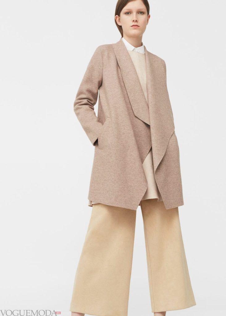 базовый гардероб для женщины: пальто беж