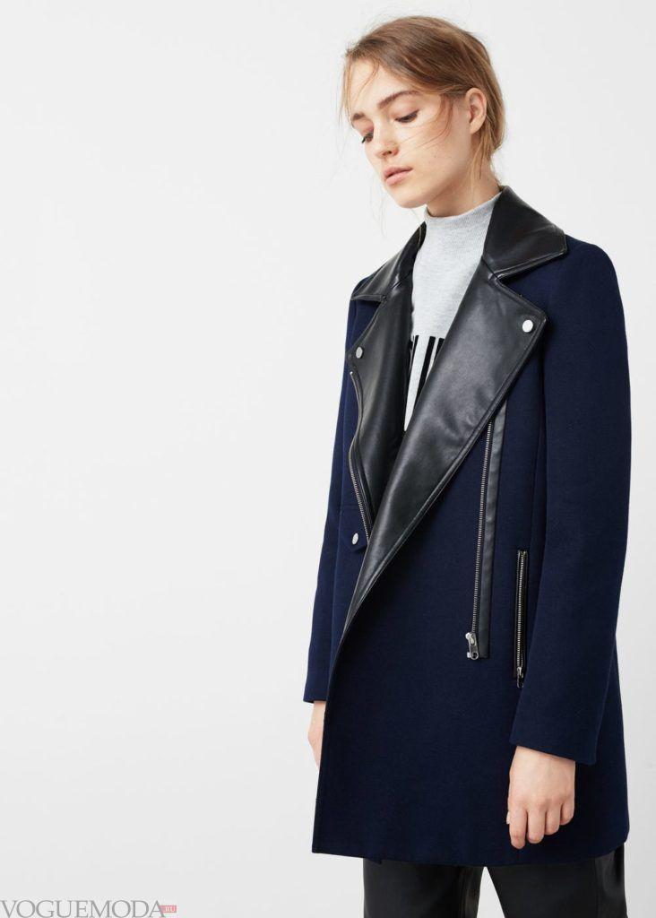 базовый гардероб для женщины: пальто с вставками