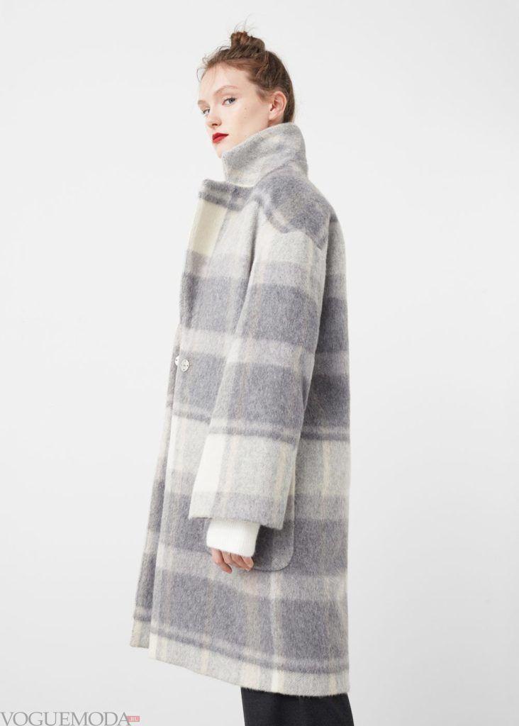 базовый гардероб пальто в полоску