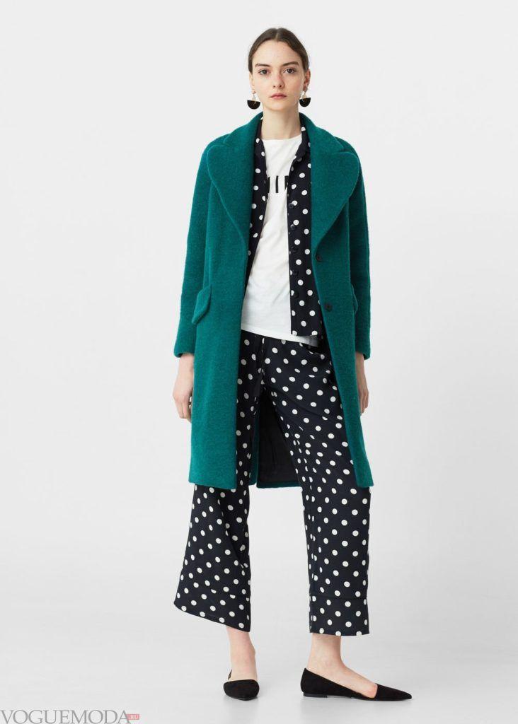 пальто зелёное