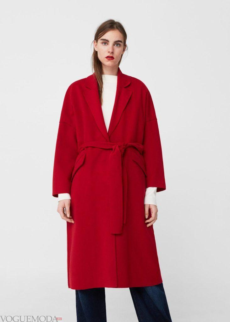 базовый гардероб пальто красное