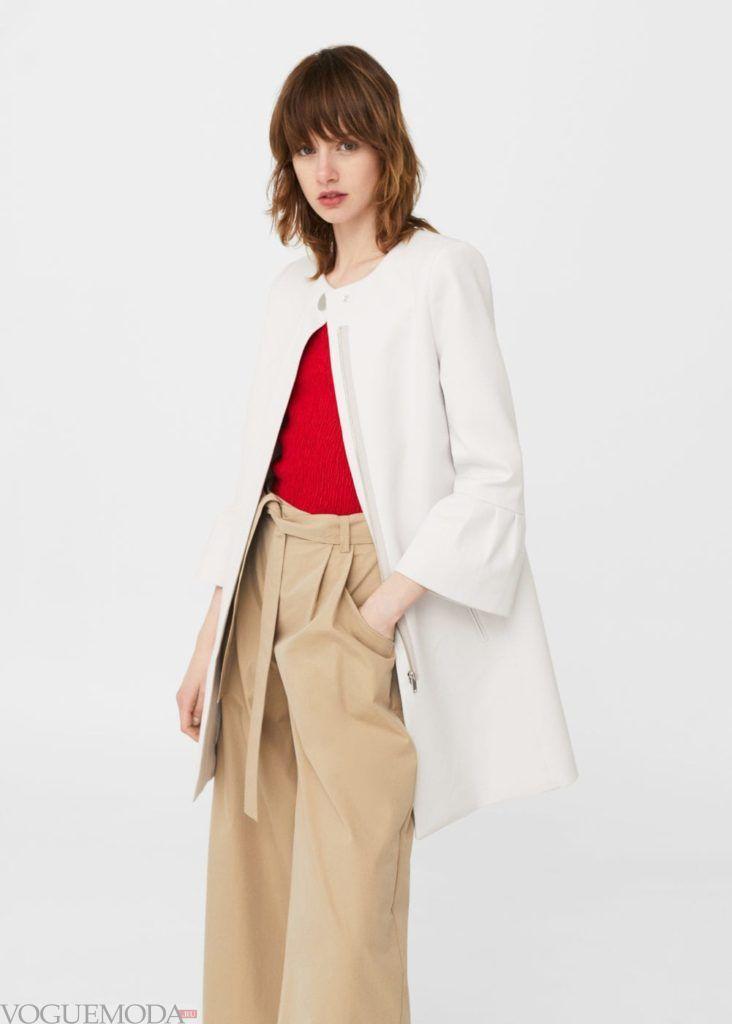 базовый гардероб пальто белое