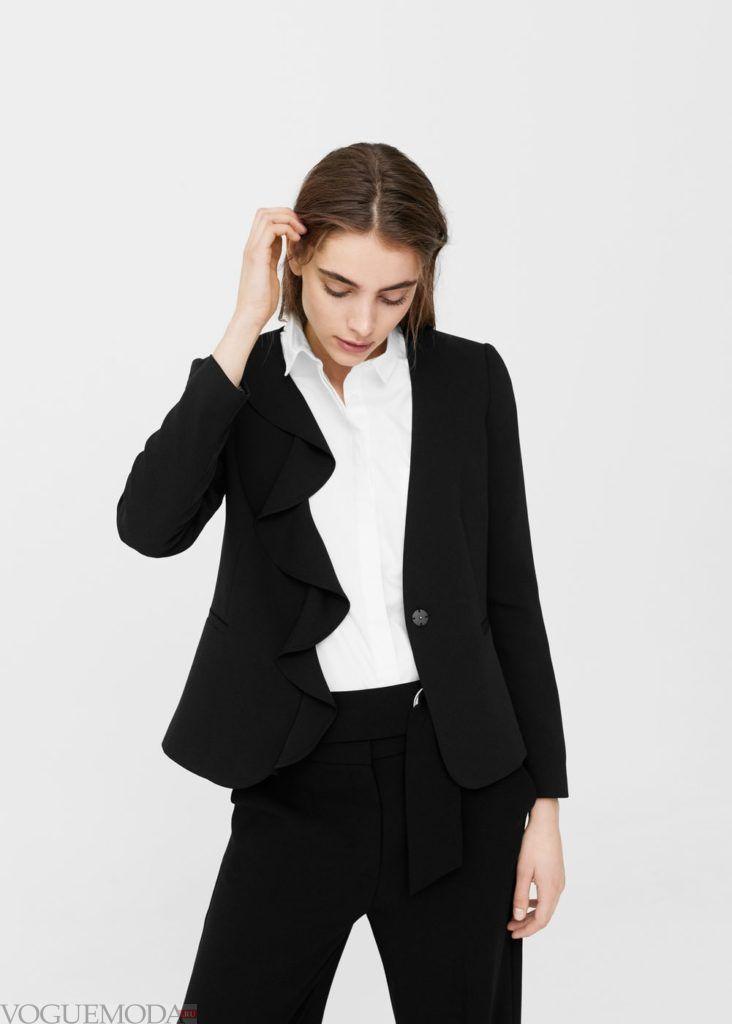 базовый гардероб пиджак чёрный