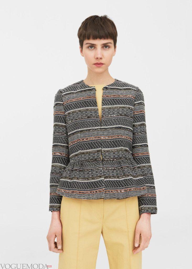 базовый гардероб пиджак с баской