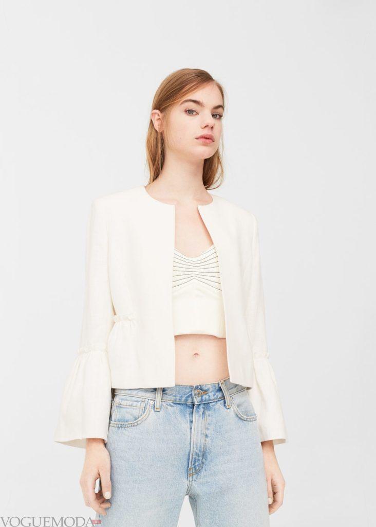 базовый гардероб пиджак белый