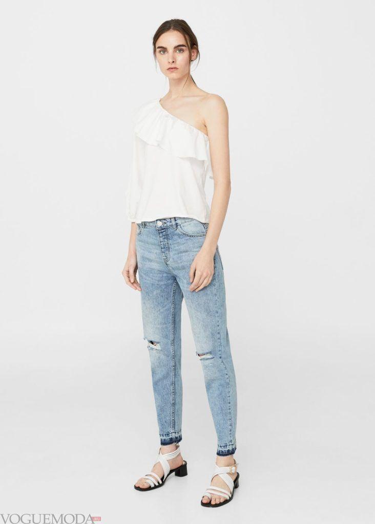 базовый гардероб джинсы с разрезами